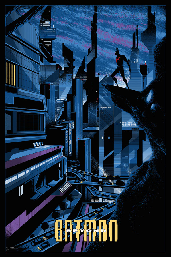 "「バットマン・ザ・フューチャー」 Batman Beyond  by Kilian Eng.  24""x36"" screen print. Hand numbered.  Edition of 325.  Printed by D&L Screenprinting.  US"