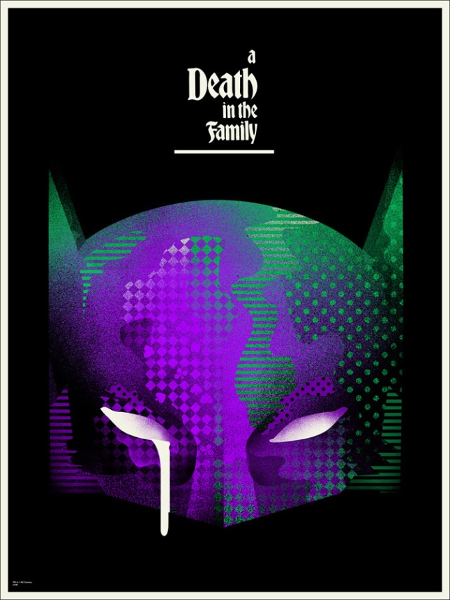 "「バットマン:デス・イン・ザ・ファミリー」バリアント A Death in the Family Variant  by We Buy Your Kids.  18""x24"" screen print. Hand Numbered. Edition of 75.  Printed by Seizure Palace.  US$60"