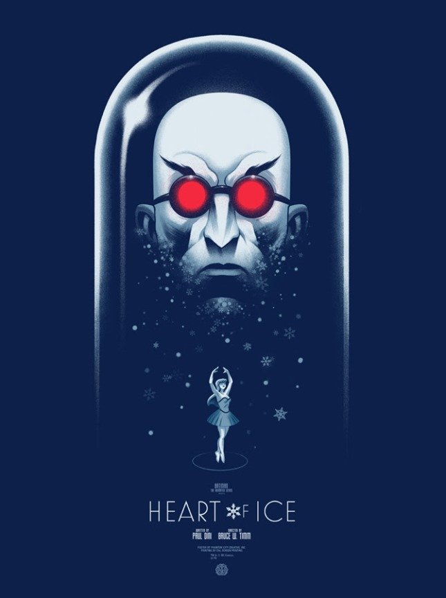 "「氷の心を持つ男〜怪人ミスター・フリーズ〜」レギュラー Heart of Ice  Regular by Phantom City Creative.  18""x24"" screen print. Hand Numbered. Edition of 225.  Printed by D&L Screenprinting.  US$45"