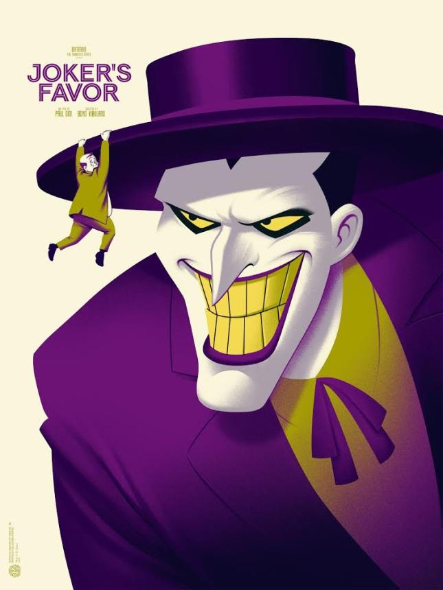 """「ジョーカーの陰謀」レギュラー Joker's Favor Regular by Phantom City Creative.  18""""x24"""" screen print. Hand Numbered.  Edition of 175.  Printed by D&L Screenprinting.  US$45"""
