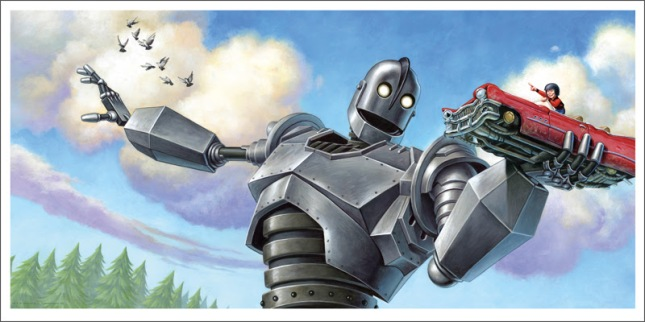 "「アイアン・ジャイアント(車)」 The Iron Giant (Car)  by Jason Edmiston.  24""x12"" giclee. Hand numbered. Edition of 110.  Printed by Static Medium.  US"