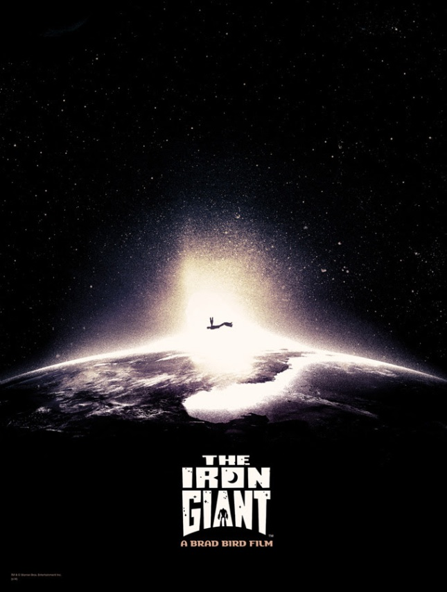"""「アイアン・ジャイアント」 The Iron Giant  by Jay Shaw.  18""""x24"""" screen print. Hand numbered. Edition of 110.  Printed by D&L Screenprinting.  US$40"""