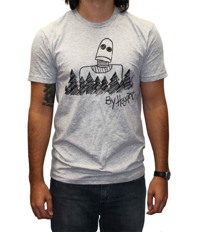 By Hogarth  T-Shirt available in Black, White & Gray.  US$25