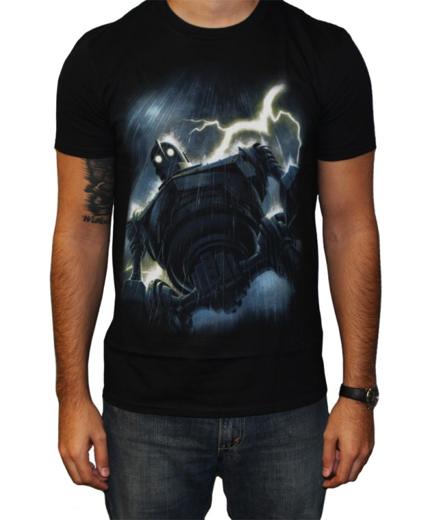 The Iron Giant (Rain)  T-Shirt designed by Jason Edmiston.  US