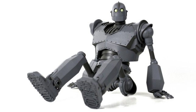 "The Iron Giant Deluxe Figure.  Approx 16"" in height.  30+ points of articulation. Sound feature.  US$300"
