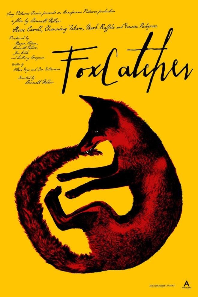 """「フォックスキャッチャー」バリアント Foxcatcher (Variant)  by Jay Shaw.  24""""x36"""" screen print. Hand numbered.  Edition of 75.  Printed by D&L Screenprinting. US$65"""