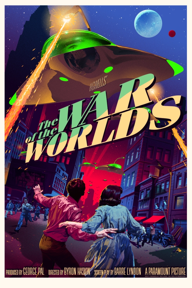 "「宇宙戦争」レギュラー The War of the Worlds  Regular  by Stan & Vince.  24"" x 36"" screen print.  Hand numbered. Edition of 300.  Printed by D&L Screenprinting.  US$55"