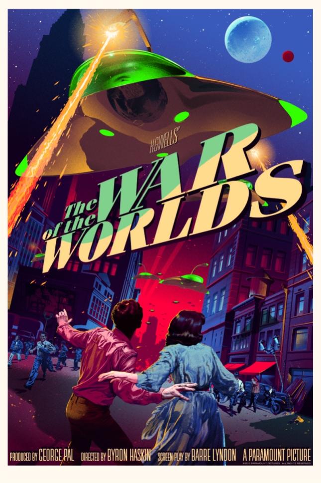 """「宇宙戦争」レギュラー The War of the Worlds  Regular  by Stan & Vince.  24"""" x 36"""" screen print.  Hand numbered. Edition of 300.  Printed by D&L Screenprinting.  US$55"""