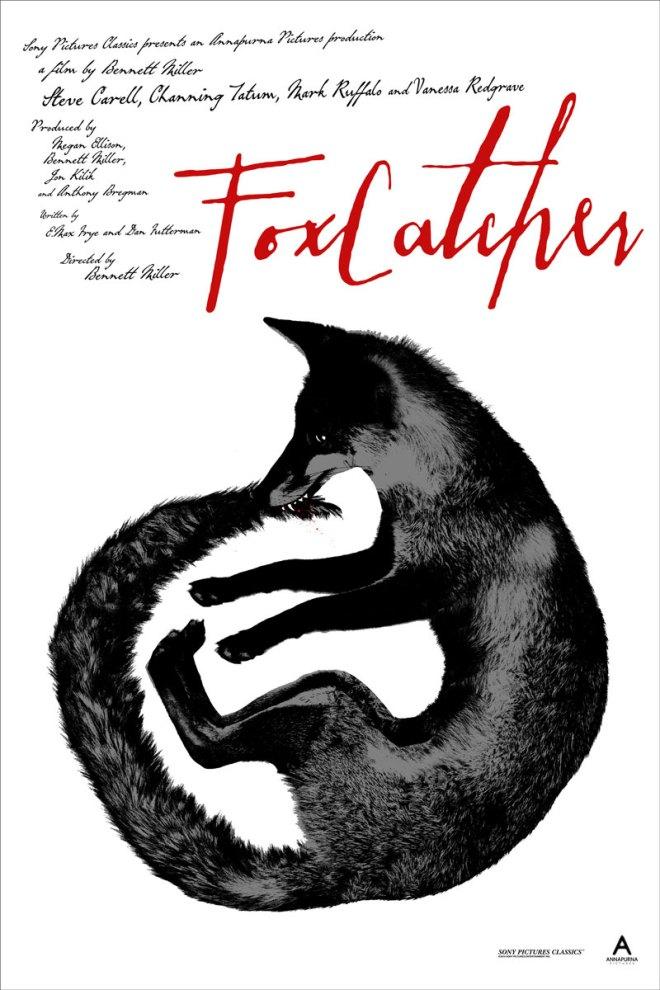 """「フォックスキャッチャー」 Foxcatcher  by Jay Shaw.  24""""x36"""" screen print. Hand numbered. Edition of 175.  Printed by D&L Screenprinting.  US$45"""