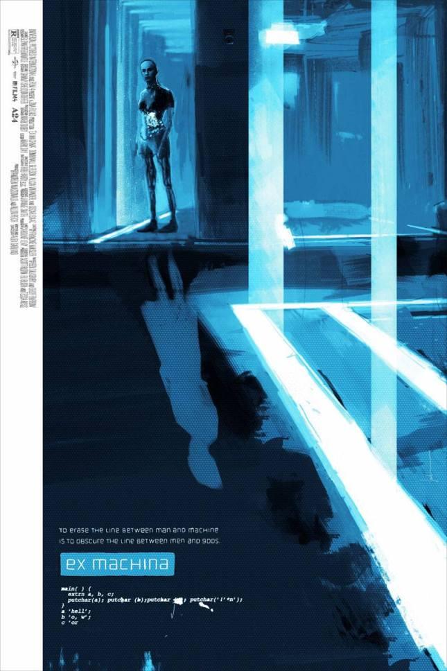 """「エクスマキナ」 Ex Machina  by Jock. 24""""x36"""" screen print.  Hand numbered. Edition of 225.  Printed by D&L Screenprinting.  US$45"""